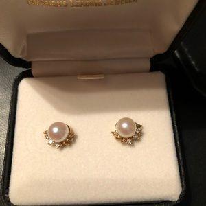 Jewelry - Pearl/Diamond earrings